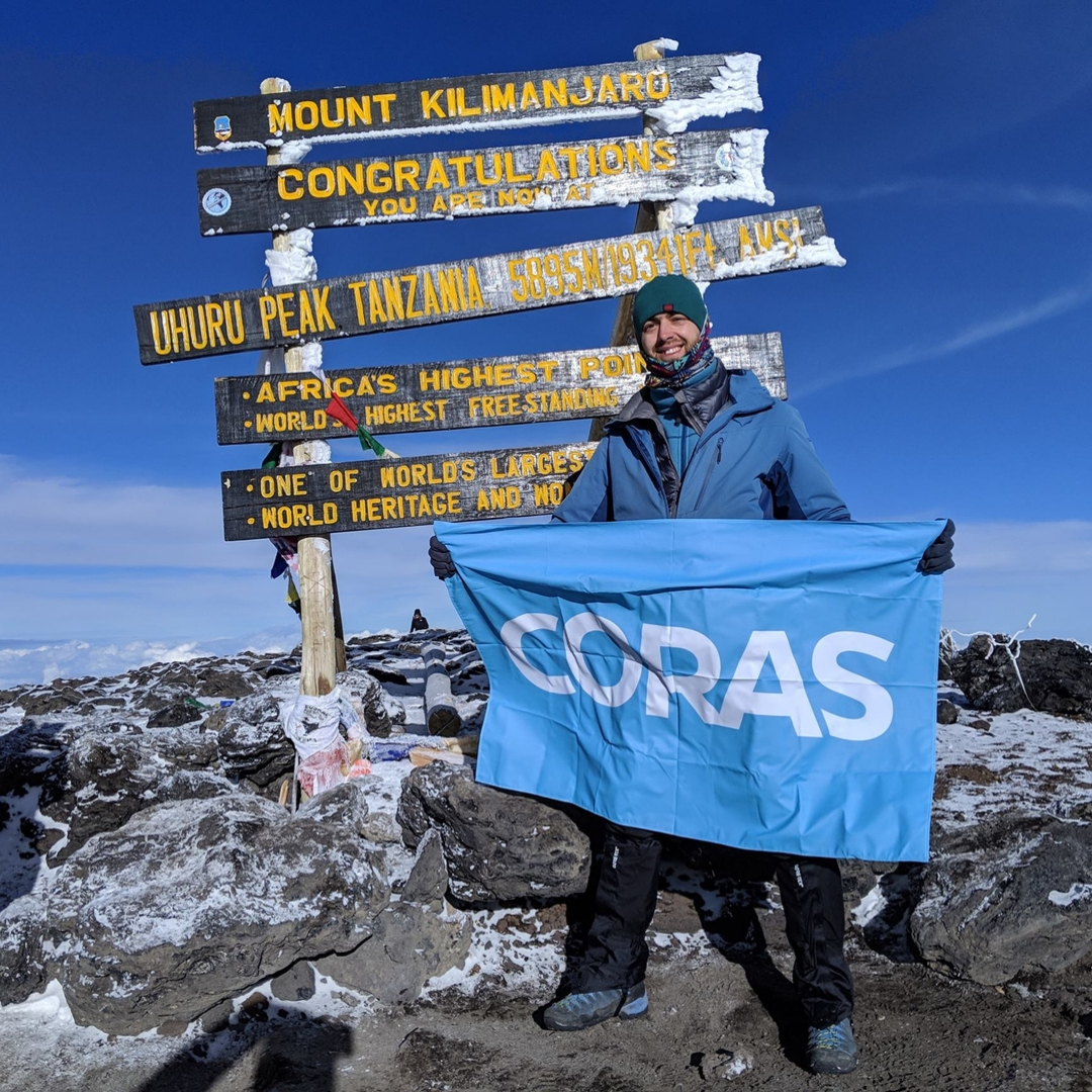 Coras on top of Mount Kilimanjaro