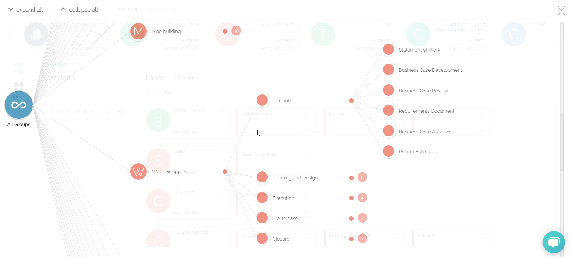 Visualize your work in a powerful map